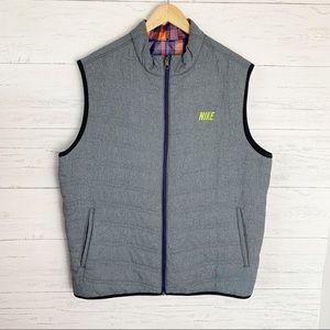 Nike Golf Sport Men's Reversible Vest Grey Plaid